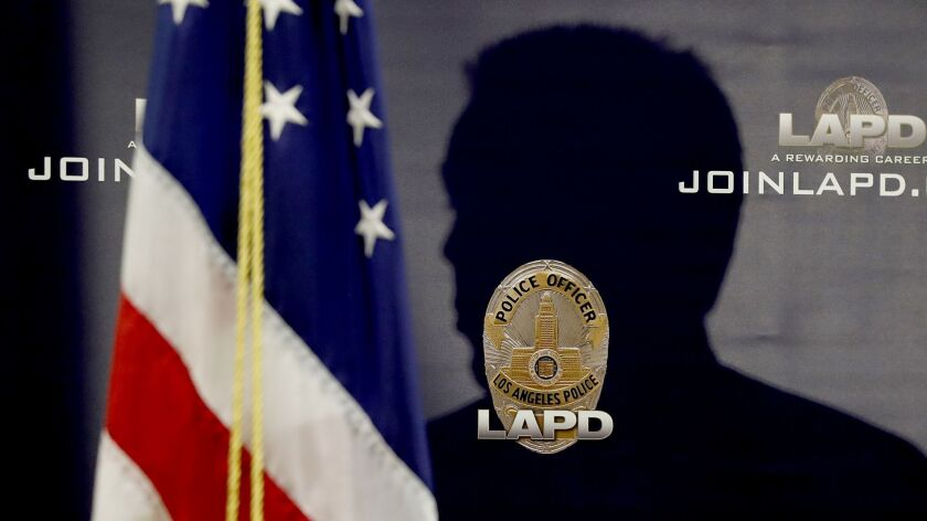 LOS ANGELES, CALIF. - OCT. 16, 2018. LAPD Chief Michael Moore speaks during a press conference abou