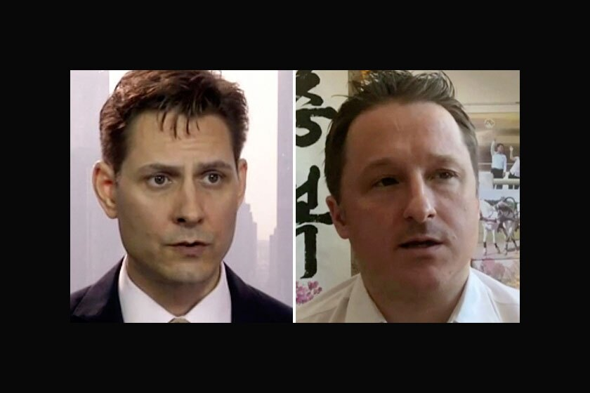 Michael Kovrig, left, and Michael Spavor have been held in China since December 2018.