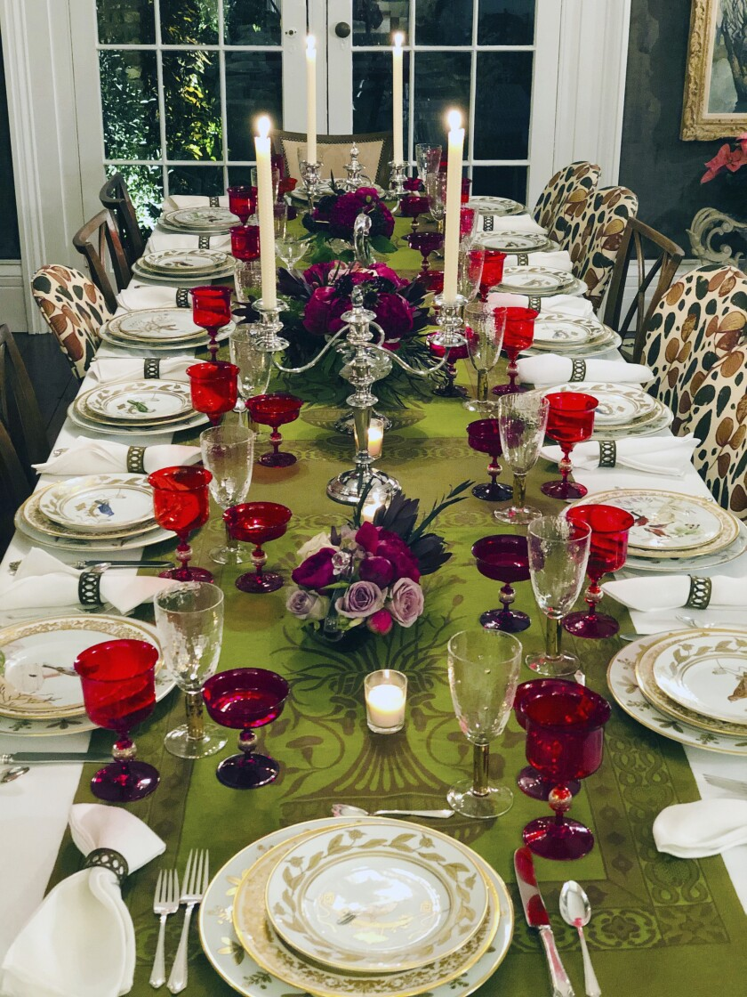 Homes Deisgner Holiday Table