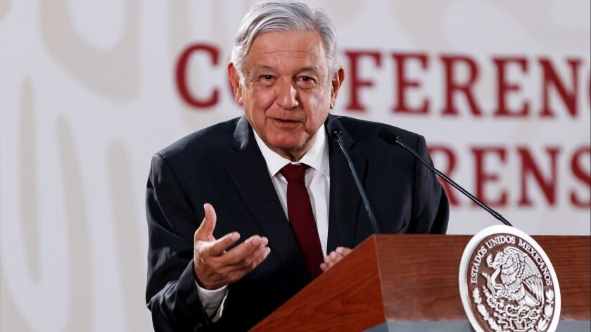 Mexican President celebrates that firms will accept bidding for new refinery, Mexico City - 01 Apr 2019