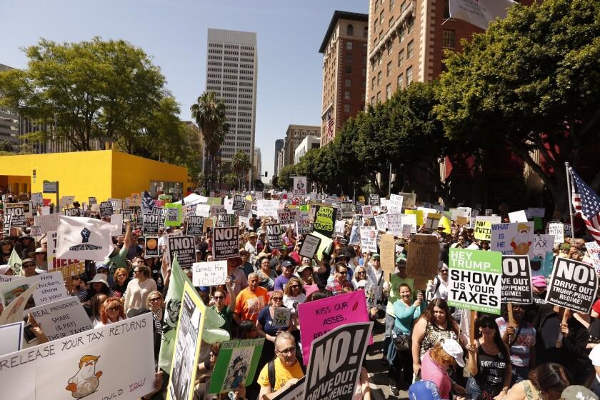 Trump Tax Protest