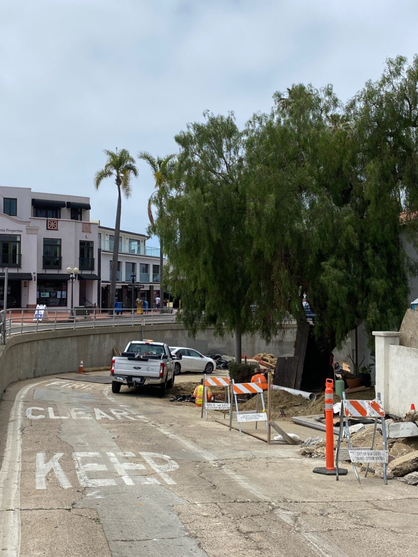 A city project will begin May 24 on Cave Street in La Jolla for work on a storm drain and concrete street panels.