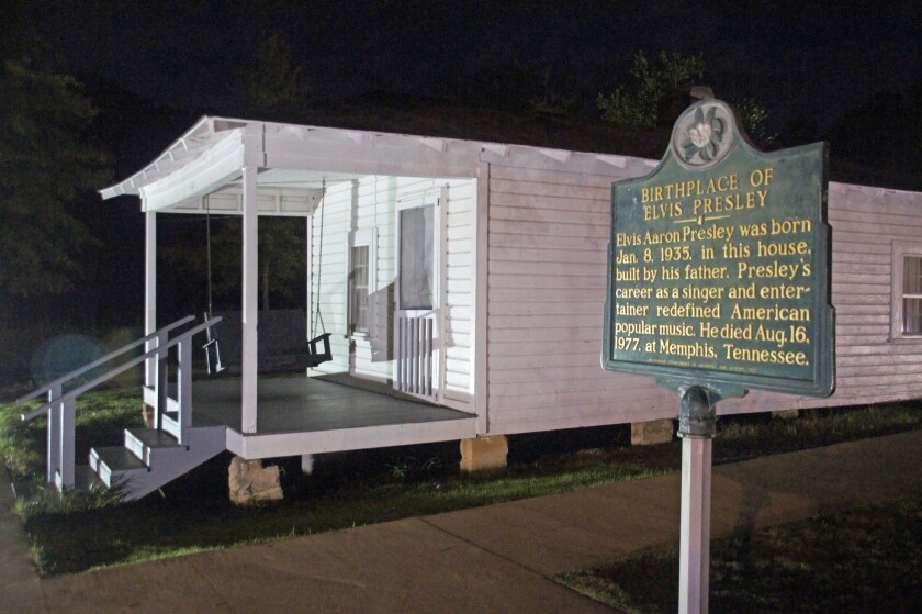 Elvis Presley was born in this humble home in Tupelo, Miss. He would have been 79 years old on Wednesday.