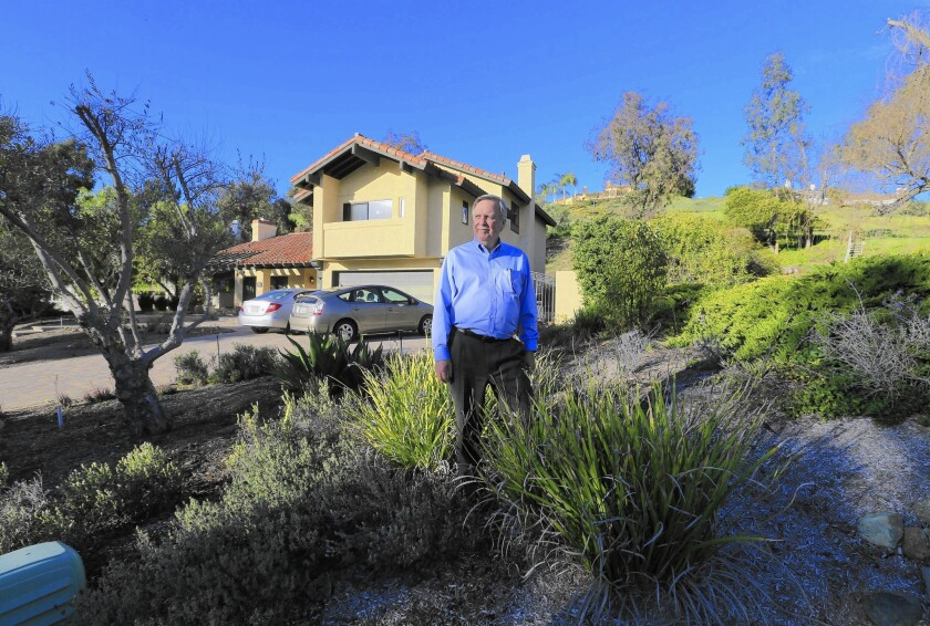 San Juan Capistrano ratepayer Jim Reardon, who has a drought-tolerant yard, worked on the suit against the city.