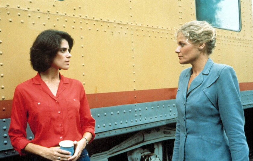 """Patricia Charbonneau, left, and Helen Shaver appear in """"Desert Hearts"""" by Donna Deitch."""