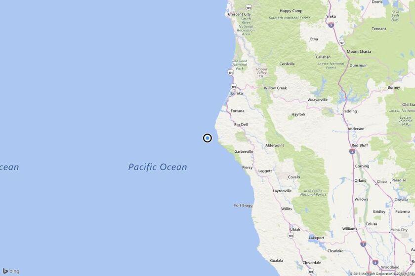 Earthquake: 3.5 quake strikes near Petrolia, Calif.