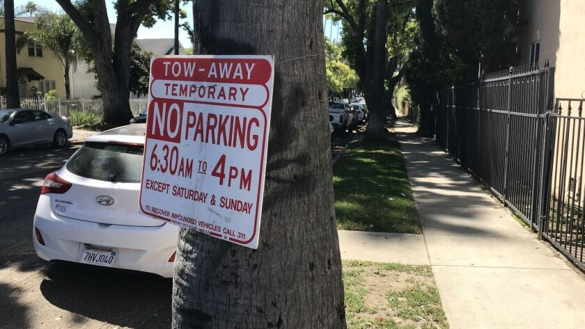 Los Angeles City Councilman David Ryu has called for a review of the no-parking signs put up by the