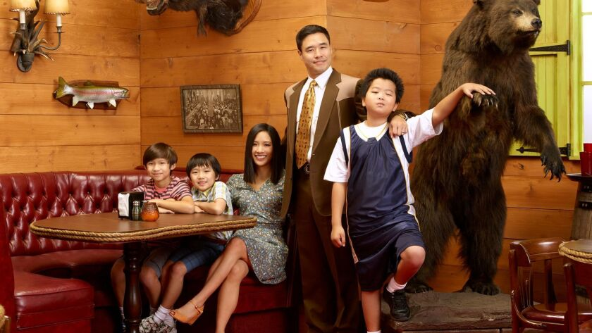 """FRESH OFF THE BOAT - ABC's """"Fresh Off the Boat"""" stars Forrest Wheeler as Emery, Ian Chen as Evan, Co"""