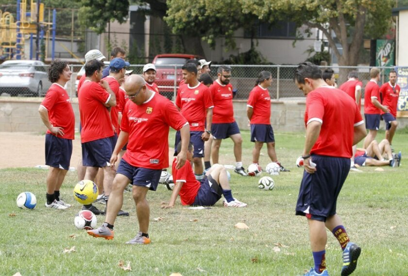 Coaches Get Chance To Learn Methods Of Fc Barcelona Los Angeles Times