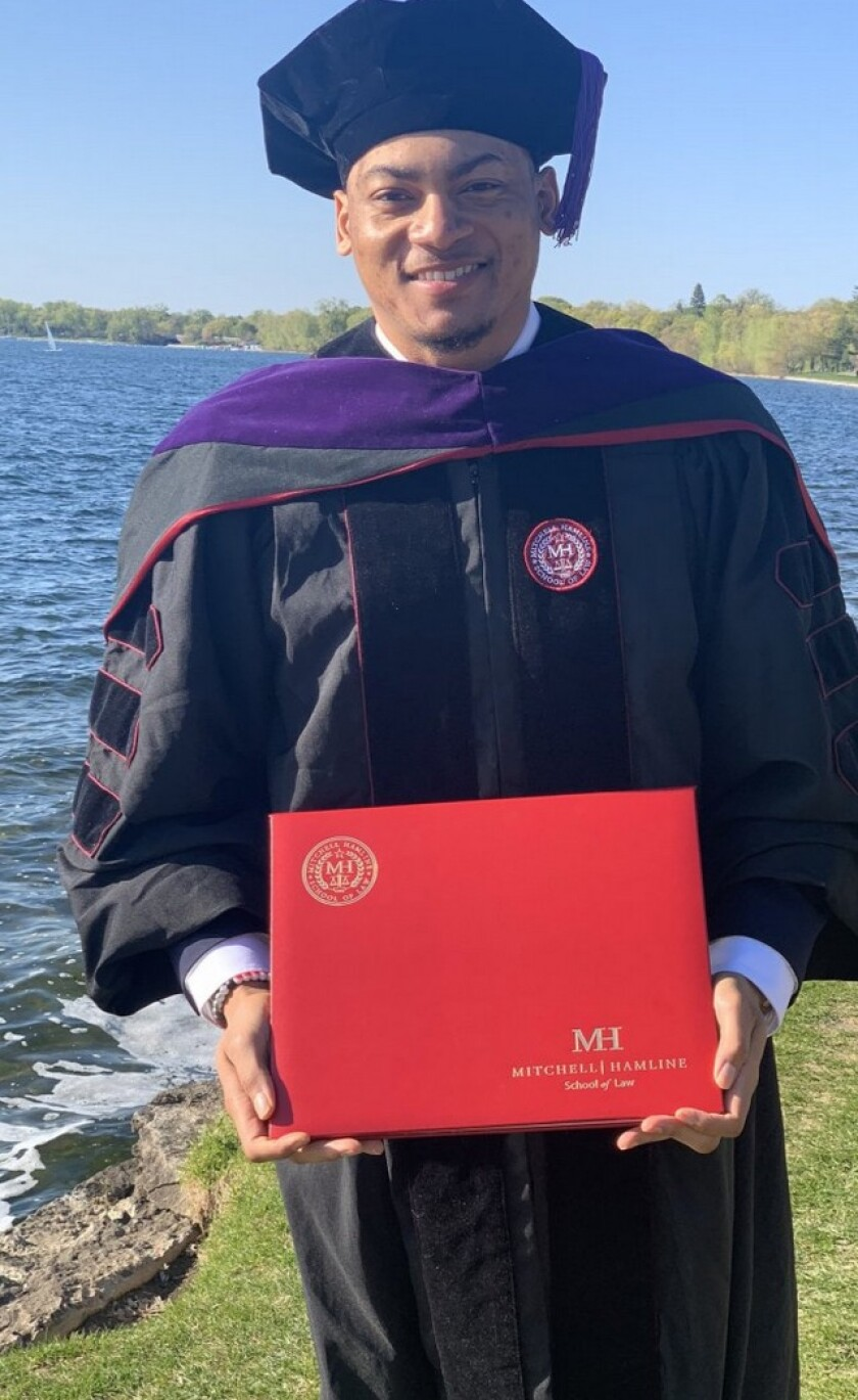 A time to celebrate: Former Dorsey linebacker Jeremiah Allison graduates from law school