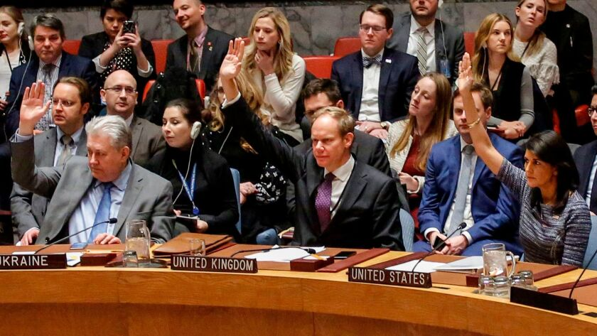 Members of the United Nations Security Council vote 15 to 0 on Dec. 22 to impose new sanctions on North Korea. Taiwan is investigating whether a ship violated those sanctions to sell North Korea fuel.
