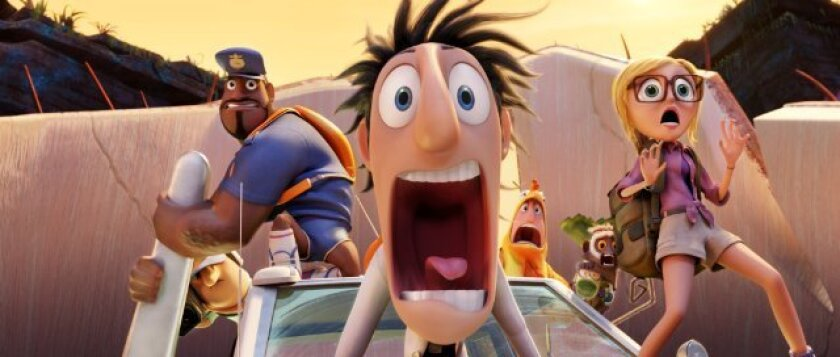 """""""Cloudy with a Chance of Meatballs 2"""" was the No. 1 film at the box office this weekend, beating """"Rush,"""" """"Don Jon"""" and """"Baggage Claim"""""""