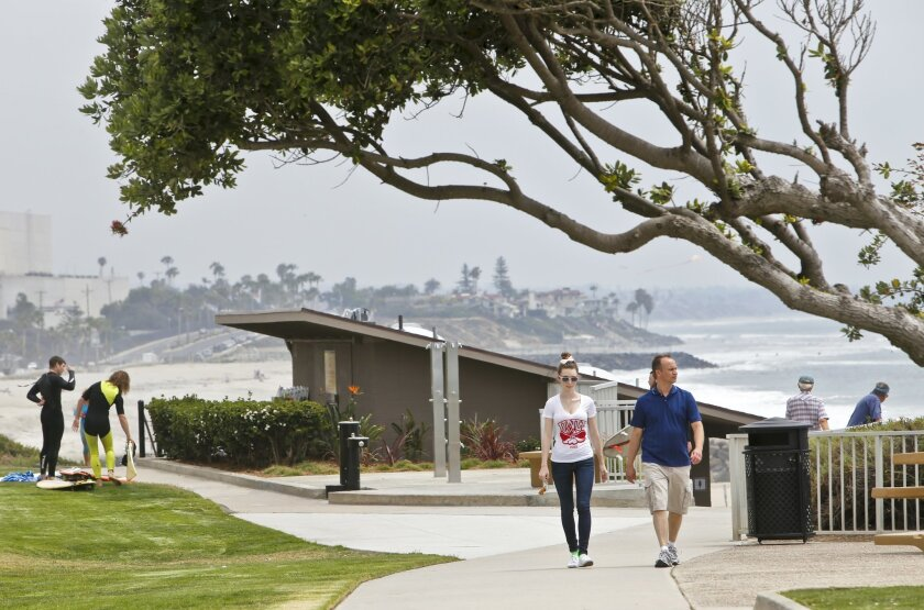 Carlsbad plans to step up enforcement of state and county health orders in its seawall area