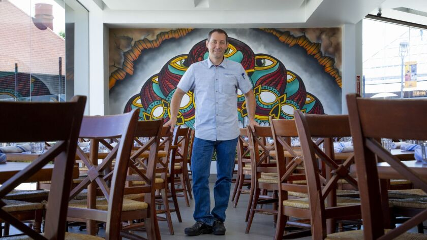 Executive chef for Blue Bridge Hospitality, Tim Kolanko will be working for a time at the Candelas o