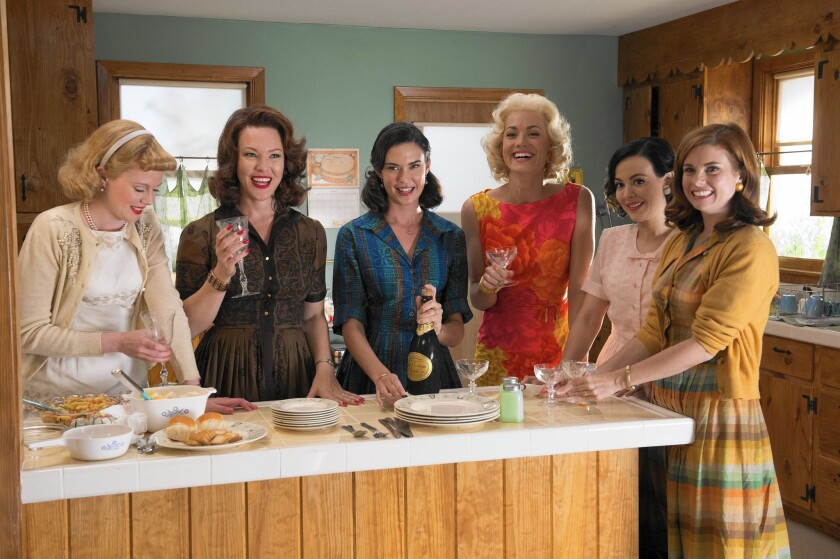 "Zoe Boyle, Erin Cummings, Odette Annable, Yvonne Strahovski, Azure Parsons and Joanna Garcia Swisher in ""Wives Club."""