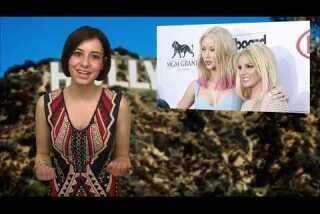 Britney Spears and Iggy Azalea work the Billboard Music Awards 2015