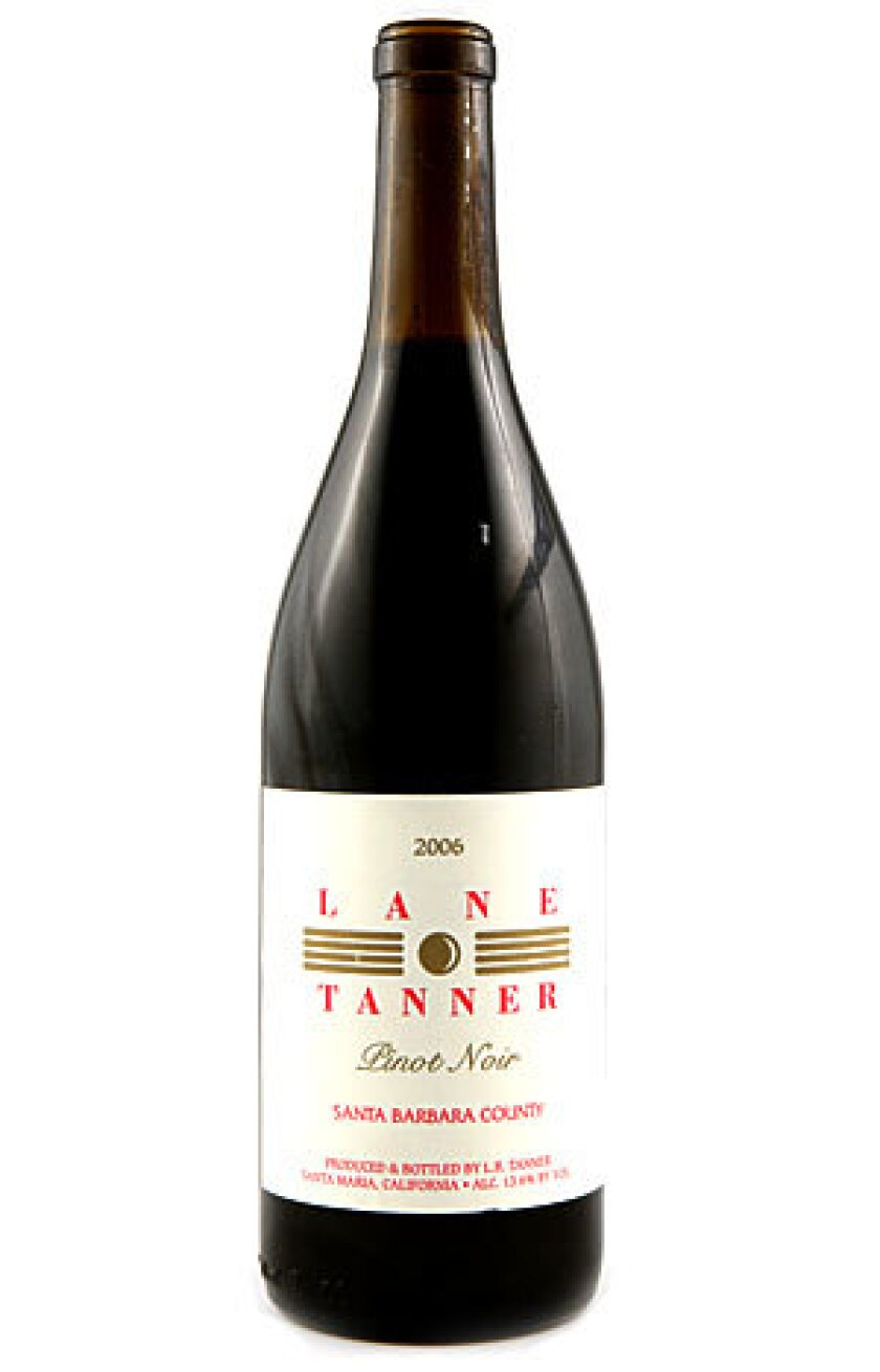 WINE OF THE WEEK: 2006 Lane Tanner Pinot Noir. Click here for details.