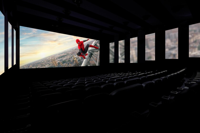 Regal L.A. Live is retrofitting one of its auditoriums with screening technology known as ICE (Immersive Cinema Experience).