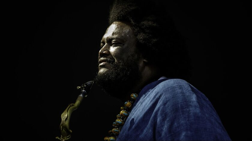 PASADENA, CALIF. -- SATURDAY, JUNE 23, 2018: Kamasi Washington performs at the Arroyo Seco Weekend m