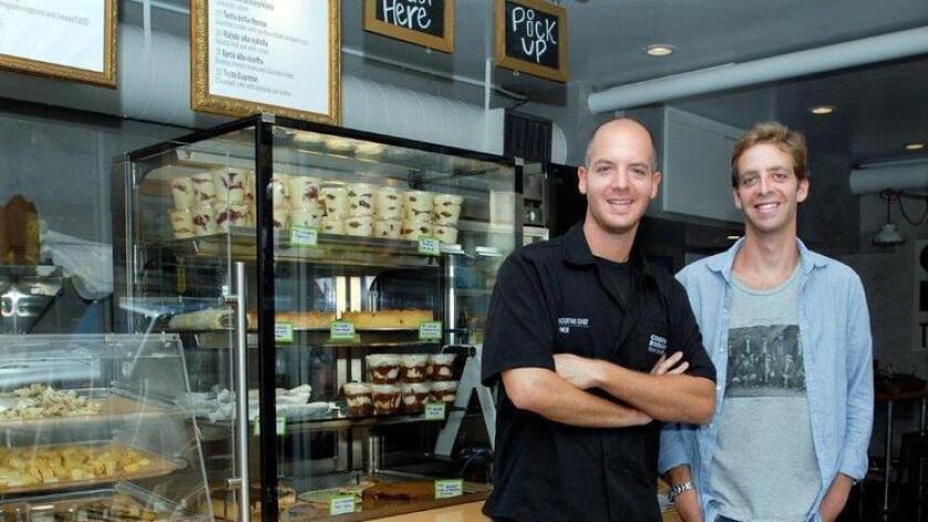 Cookbook Tavola Calda in Little Italy on Kettner is run by (l-r) Gregorio Serafini Pozzi (the chef) and his business partner, Filippo Macchiarelli. Photo: Rick Nocon (/ Rick Nocon)