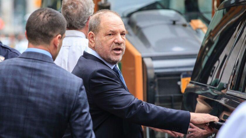 Harvey Weinstein leaves Manhattan Criminal Court on Oct. 11.