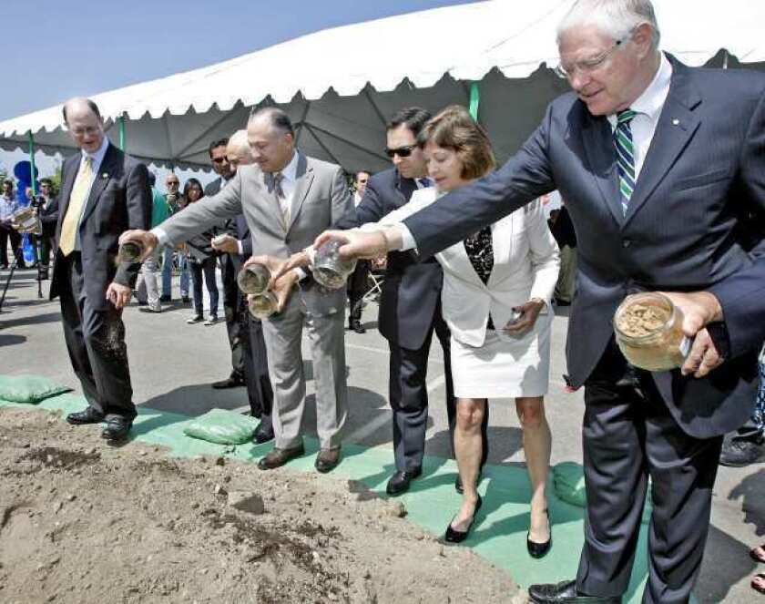 Ground officially breaks on massive transit center at Bob Hope Airport