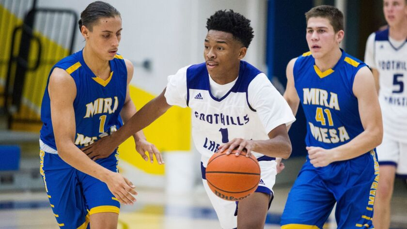 Foothills Christian senior point guard Jaylen Hands, who has signed with UCLA, is averaging 29 points, 6.7 rebounds and 6.5 assists a game for the Knights.
