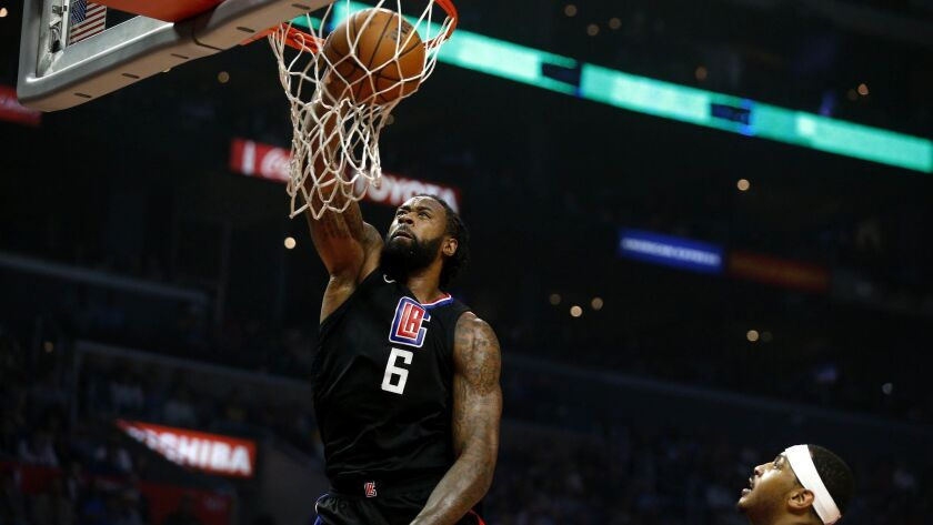 DeAndre Jordan spent the first 10 years of his career with the Clippers.