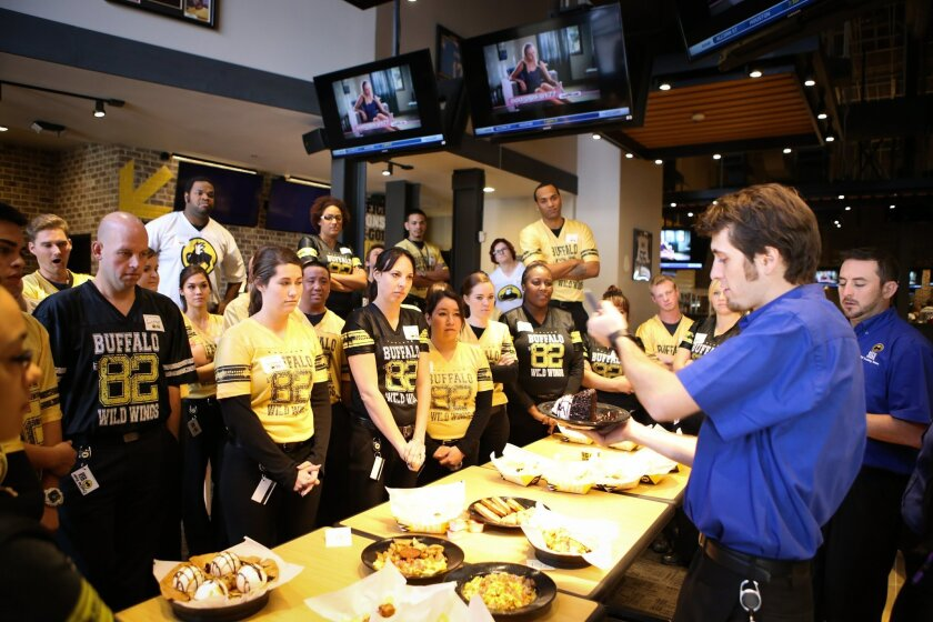 Buffalo Wild Wings trains new employees in advance of the latest restaurant opening in Mission Valley.