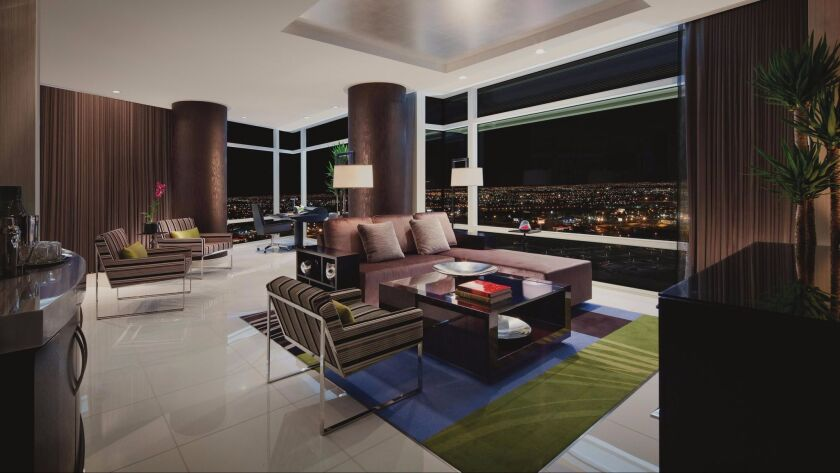 A room at the Aria Sky Suites in Las Vegas, which has a Five Diamond rating.