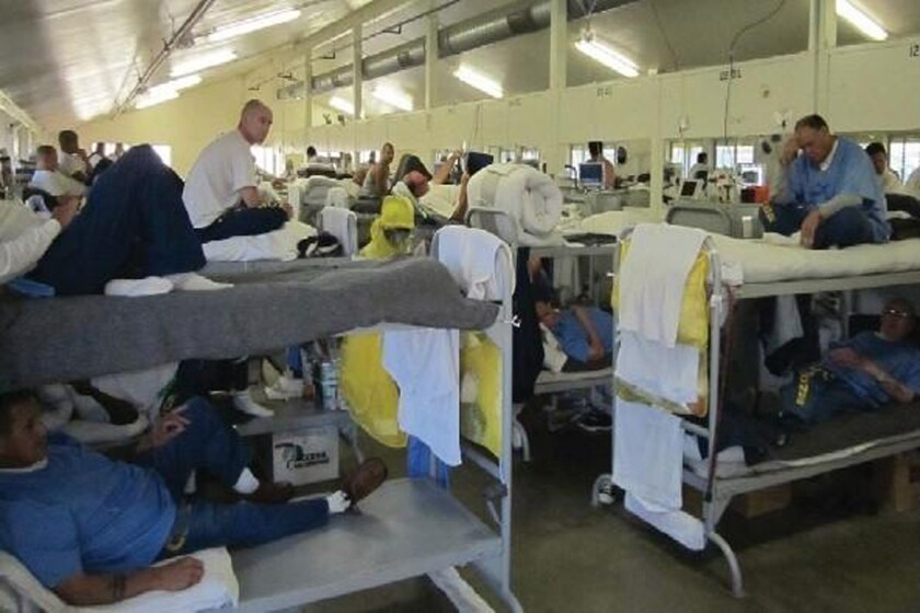 Inmates in a dormitory at a California prison in Chino in early 2013. Federal judges threatened California with court-ordered releases if the state did not reduce crowding to acceptable levels.