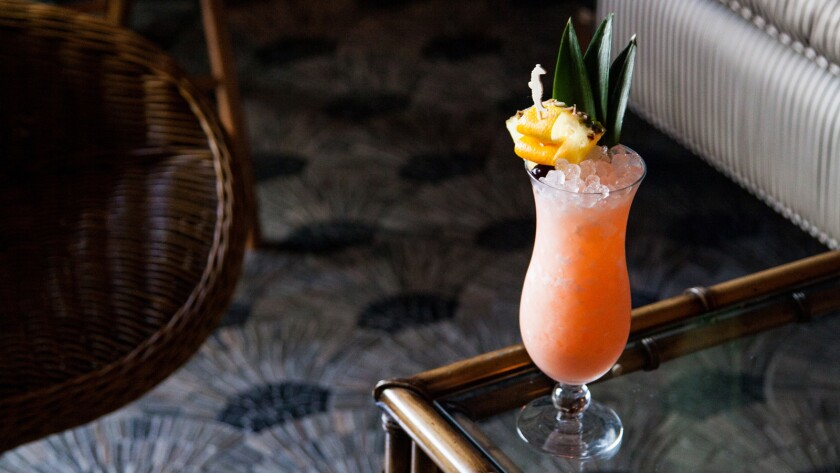 The King Kamehameha cocktail from the new Lono tiki bar in Hollywood.