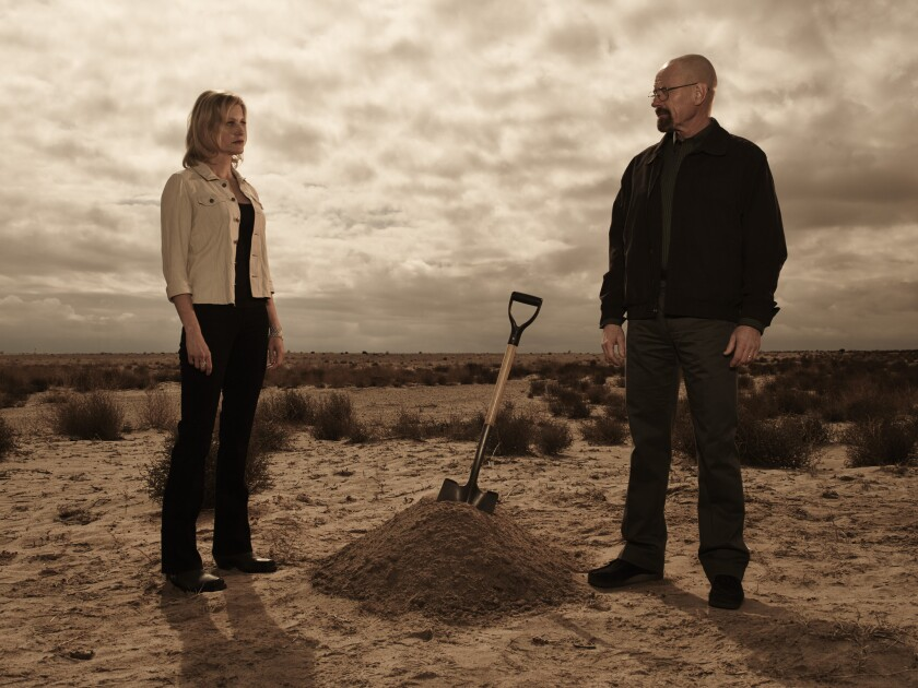 """Skyler (Anna Gunn) and Walter (Bryan Cranston) finally see their marriage disintegrate in the latest episode of """"Breaking Bad."""""""