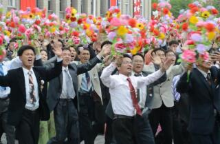 Sights and sounds from a North Korean rally