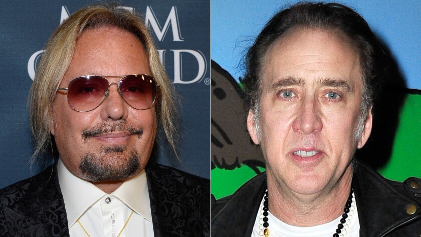 Vince Neil and Nicolas Cage got into it Thursday outside the Aria in Las Vegas.