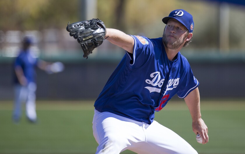Dodgers hitters get early challenge by taking batting practice against Clayton Kershaw