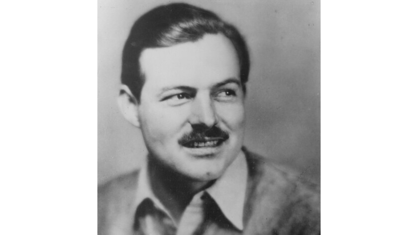 "Ernest Hemingway in 1937, the year he brought his film ""The Spanish Earth"" to Hollywood."