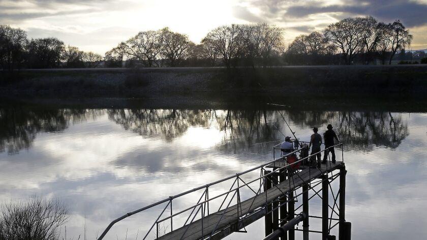 The Sacramento River in the San Joaquin-Sacramento River Delta, near Courtland, Calif. on Feb. 23, 2016.