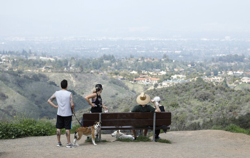 Caballero Canyon Trail is one way to reach Mulholland Drive's spectacular views of the San Fernando Valley.
