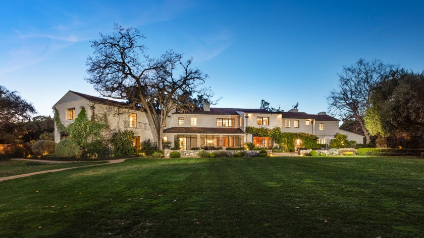 Mansion with big lawn