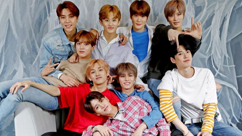 LOS ANGELES, CALIF. -- SATURDAY, APRIL 28, 2018: NCT 127, one of the most popular new K-Pop boy band