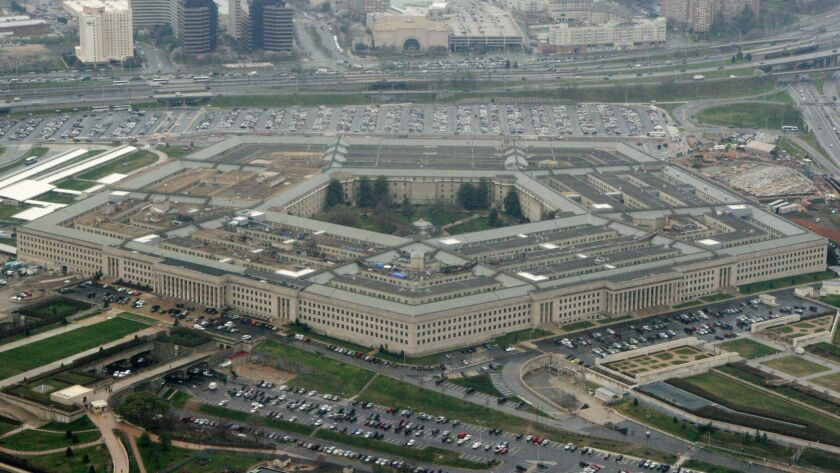 FILE - This March 27, 2008, file photo, shows the Pentagon in Washington. The Democratic-controlled