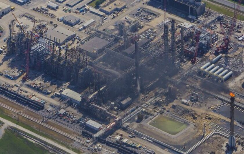 An explosion at the Williams Olefins chemical plant in Louisiana, seen here from above, killed two people. On Friday, a day later, an explosion at another Louisiana chemical plant left one worker dead.