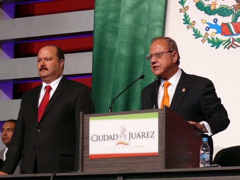 Los gobernadores de Veracruz y de Chihuahua, Javier Duarte y César Duarte