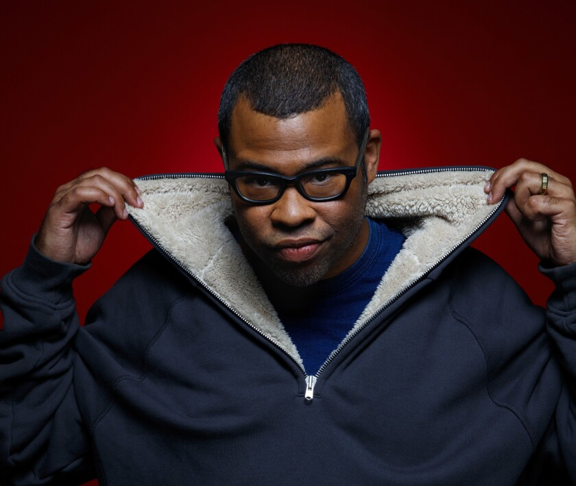 LOS ANGELES, CA--FEBRUARY 09, 2017-- Director Jordan Peele is photographed during promotion of his n