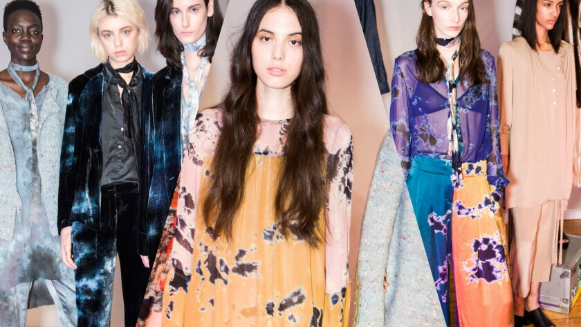 Looks from the Raquel Allegra fall 2016 collection.