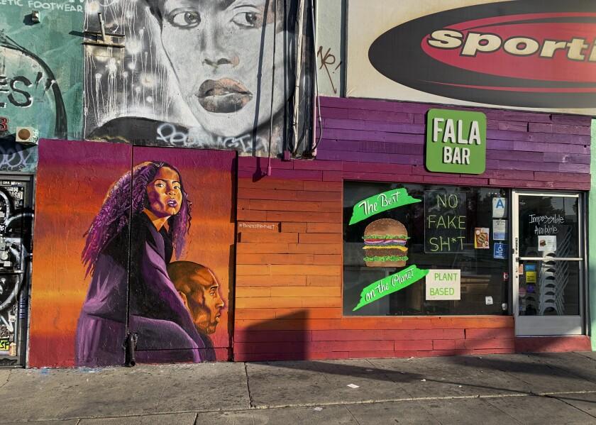 """Kobe Bryant mural named """"The Dreamer and the Believer"""" by Joshua """"Prophet Josh"""" McCadney."""