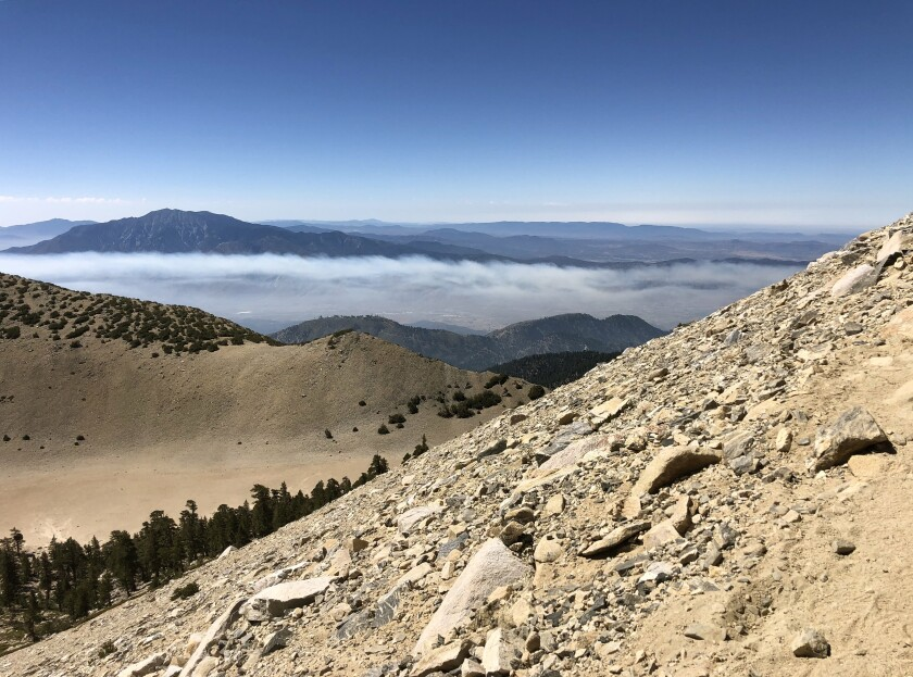 Shown is the San Gorgonio Wilderness, where day hiking permits will be required starting Sept. 1.