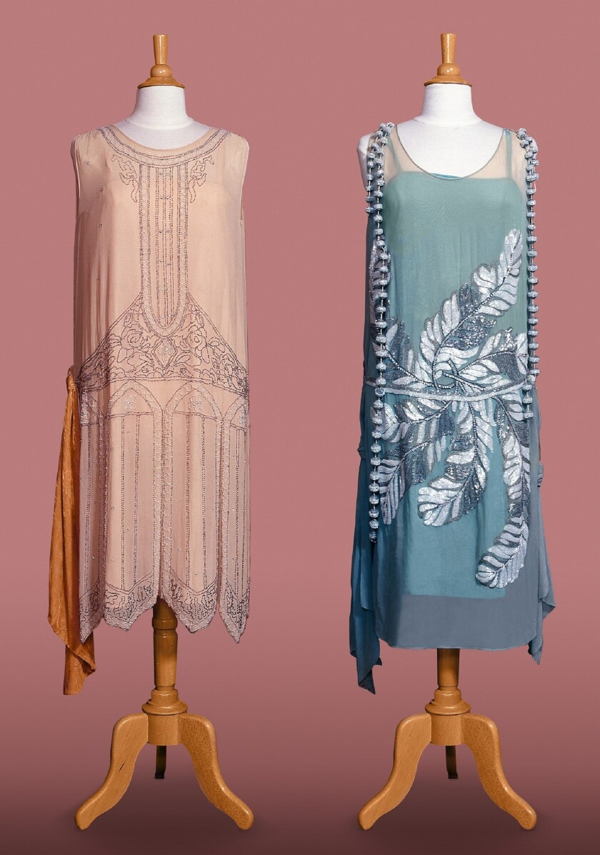Franzen Dresses with pink background for Royal Hawaiian Fashion Exhibit 2018