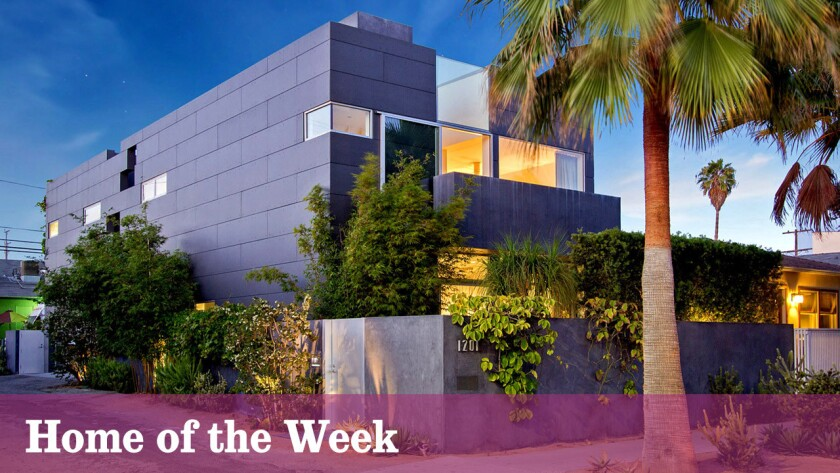 The David Hertz-designed home at 1201 Cabrillo Ave. in Venice is listed for sale at $3.295 million.